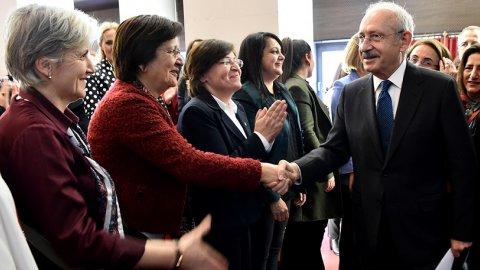 Kılıçdaroğlu CHP'li kadınlarla buluştu