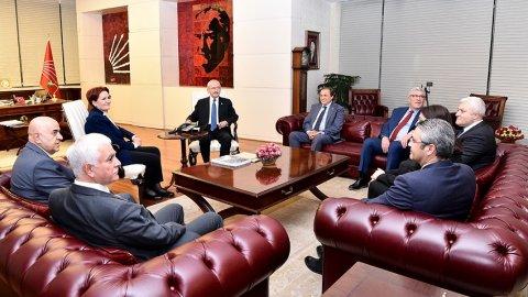 Kılıçdaroğlu ve  Akşener'in görüşmesinden ilk görüntü