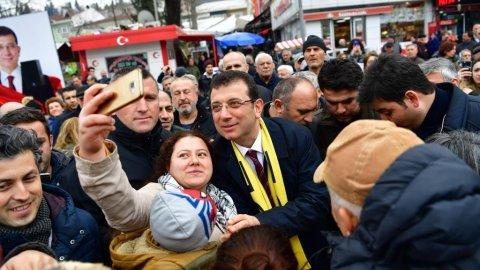 Beykoz'da Ekrem İmamoğlu izdihamı