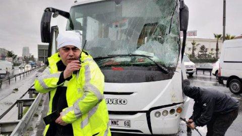 Basın Ekspres yolunda kaza: Yaralılar var...