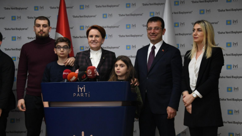 Ekrem İmamoğlu, İYİ Parti Genel Başkanı Meral Akşener'i ziyaret etti
