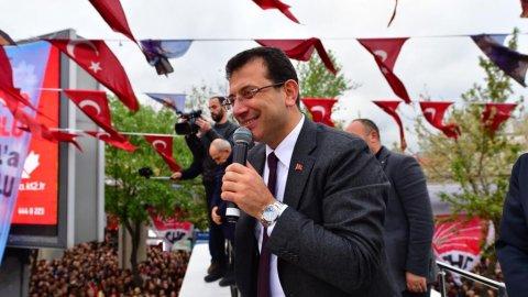 Bakırköy'de Ekrem İmamoğlu izdihamı