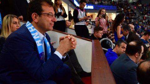 İBB Başkanı Ekrem İmamoğlu, Anadolu Efes-Barcelona maçında