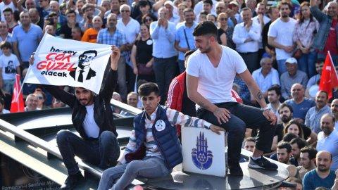 Çekmeköy'de Ekrem İmamoğlu izdihamı