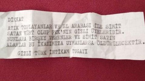 İzmir'de evlere bırakılan not: 'Öldüreceğiz'