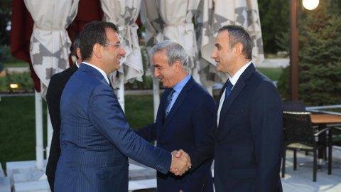İmamoğlu, UNESCO Filistin Heyeti ile bir araya geldi