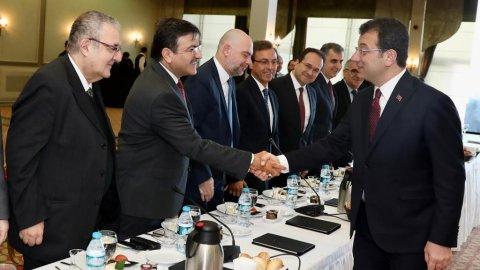 Ekrem İmamoğlu 55 üniversitenin rektörüyle buluştu