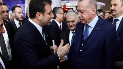 Ekrem İmamoğlu, Erdoğan görüşmesinden kareler