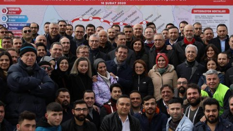 Ekrem İmamoğlu, Mecidiyeköy - Mahmutbey Metro Hattı Test Sürüşü'nü katıldı