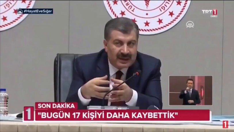 TRT'den Sağlık Bakanı Koca'ya sansür: Yayını kestiler!