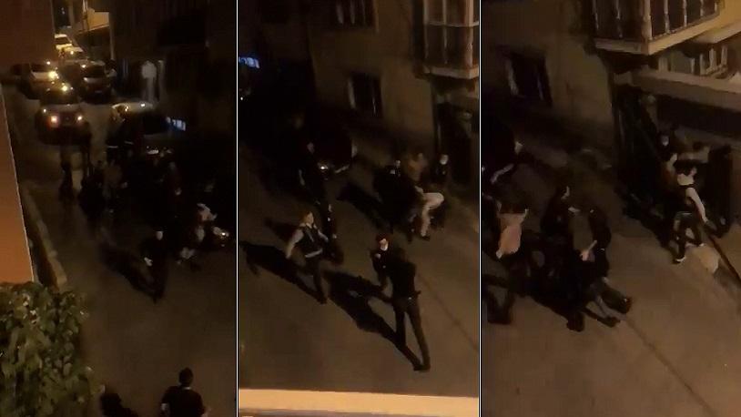 Eyüp'te ekmek almaya çıkan vatandaşa polis ve bekçilerden meydan ...