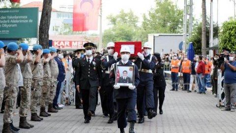 Şehit Jandarma Astsubay Çavuş Celal Özcan'a son görev