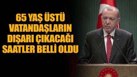 Erdoğan açıkladı! 18 yaş altı ve 65 yaş üstü için yeni düzenleme