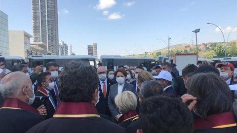 Akşener, Ankara'ya girişi engellenen baro başkanlarını ziyarete gitti