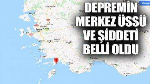 Ege Denizi'nde deprem! İzmir ve Muğla'da da hissedildi