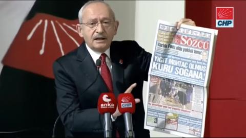 Kılıçdaroğlu Sözcü'nün manşetiyle seslendi: İşte Türkiye'nin gerçek gündemi