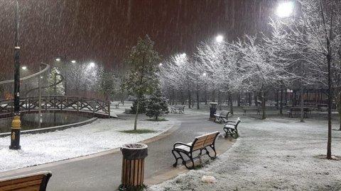 İstanbul'da beklenen kar geldi