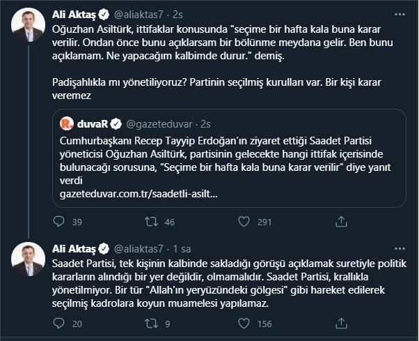 Asiltürk'ün açıklaması kriz çıkardı: Saadet Partisi'nde ittifak çatlağı! -  Gerçek Gündem
