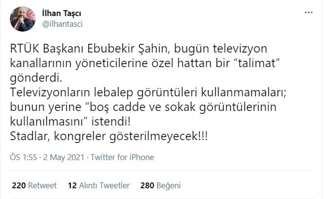 RTÜK'ten televizyon kanallarına 'lebaleb' talimatı: Boş sokakları gösterin,  kalabalık görüntüleri değil - Gerçek Gündem