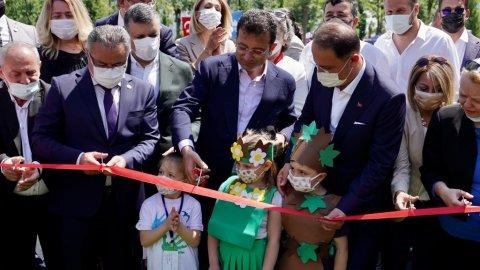 Ekrem İmamoğlu, 50 bin metrekarelik Yakuplu Kent Ormanı'nı hizmete açtı